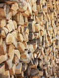 Woods background. Woodpile close up for fire place Stock Photography
