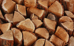 Woods background. Woodpile close up for fire place Royalty Free Stock Image