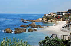 Woods Cove, Laguna Beach, California. Woods Cove is a beautiful, secluded cove near Diamond Street south of downtown Laguna Beach California. This picturesque royalty free stock photography