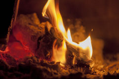 Woods in fireplace. Woods are  burning in fireplace Royalty Free Stock Photo