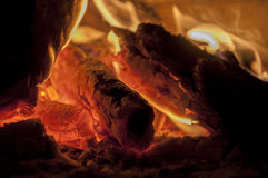 Woods in fireplace. Woods are burning in fireplace Royalty Free Stock Images
