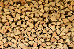 Firewood. Full picture of firewood close-up Royalty Free Stock Photos