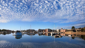 Woods Hole, Cape Cod. Boats In Eel Pond, Woods Hole, Cape Cod, Massachusetts Stock Photos
