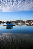Woods Hole, Cape Cod. Boats In Eel Pond, Woods Hole, Cape Cod, Massachusetts Stock Photography