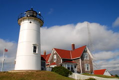 Woods Hole, MA: Nobska Lighthouse Stock Photo