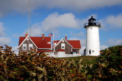 Woods Hole, MA: Nobska Lighthouse Royalty Free Stock Image
