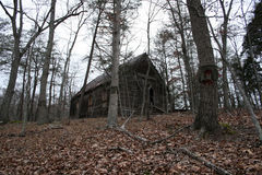 Woods House. An old house in the woods falling apart.A fixer-upper royalty free stock photos