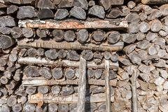 Woods logs firewoods texture shapes stock photography