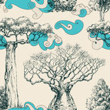Woods seamless pattern Stock Images