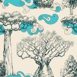 Woods seamless pattern. Nature print royalty free illustration