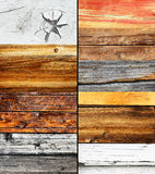 Woods 2. Wood collage, different colors and texture, nature background Stock Photo