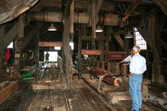 The woodsaw-mill de Rat in IJlst Royalty Free Stock Photo