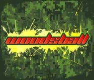 Woodsball - är ett format av paintballdobbel Arkivfoton