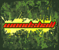 Woodsball - est un format de jeu de paintball Photos stock