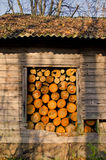 woodshed швырка осени старый Стоковые Фото