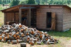 Woodshed stock image