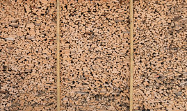 Woodshed huge texture Stock Image