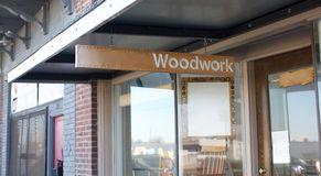 Woodshop and Woodworking Store Stock Photo