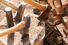 Woodsplitting log Stock Photo