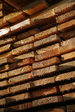Woodstack. Stack of wood on the building place Royalty Free Stock Image