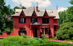 Woodstock, Connecticut: 1846 Rosewood Cottage Royalty Free Stock Photo