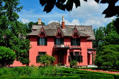 Woodstock, CT:  1846 Roseland chałupa Zdjęcia Royalty Free