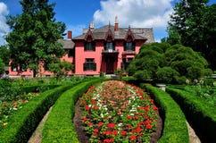 Woodstock, CT: Roseland-Häuschen 1846 Stockbild