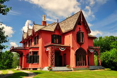 Woodstock, CT:  1846 Roseland-Plattelandshuisje Stock Foto's