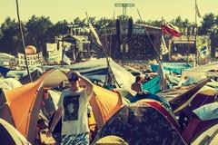 Woodstock Festival, biggest summer open air ticket free rock music festival in Europe, Poland. KOSTRZYN NAD ODRA, POLAND - AUGUST 2, 2013: 19th Przystanek Stock Photo