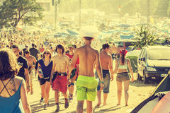 Woodstock Festival, biggest summer open air ticket free rock music festival in Europe, Poland. Royalty Free Stock Photography