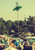 Woodstock Festival, biggest summer open air ticket free rock music festival in Europe, Poland. Royalty Free Stock Photo