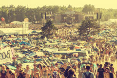 Woodstock Festival, biggest summer open air ticket free rock music festival in Europe, Poland. KOSTRZYN NAD ODRA, POLAND - AUGUST 2, 2013: 19th Przystanek Royalty Free Stock Image