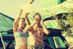 Woodstock Festival, biggest summer open air ticket free rock music festival in Europe, Poland. KOSTRZYN NAD ODRA, POLAND - AUGUST 2, 2013: 19th Przystanek Stock Photos