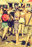 Woodstock Festival, biggest summer open air ticket free rock music festival in Europe, Poland. Stock Images