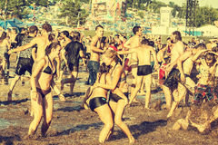 Woodstock Festival, biggest summer open air ticket free rock music festival in Europe, Poland. Royalty Free Stock Image