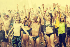 Woodstock Festival, biggest summer open air ticket free rock music festival in Europe, Poland. Stock Image
