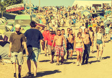 Woodstock Festival, biggest summer open air ticket free rock music festival in Europe, Poland. Stock Photography
