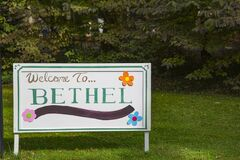 Free WOODSTOCK Tribute:  Imitation `Welcome To Bethel` Sign Royalty Free Stock Image - 191003706