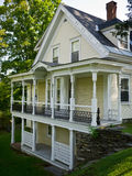 Woodstock Vermont House. A well maintained Victorian house in Woodstock, Vermont stock photos