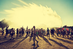 Woodstockfestival, grootste vrij de rockfestival van het de zomer openluchtkaartje in Europa, Polen Royalty-vrije Stock Foto's