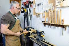 Woodturner royaltyfri fotografi