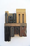 Woodtype letters showing teamwork Stock Image