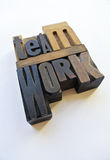 Woodtype letters showing teamwork Royalty Free Stock Images