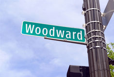 Woodward aveny, Detroit Michigan Royaltyfria Bilder
