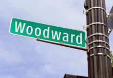 Woodward aveny, Detroit Michigan Royaltyfri Foto