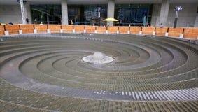Woodward spiral springbrunn arkivbild