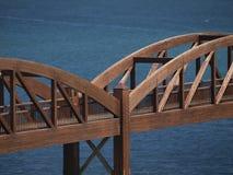 Woodwn Bridge Royalty Free Stock Photography