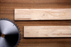 Woodwork elements with wood slats. Royalty Free Stock Image