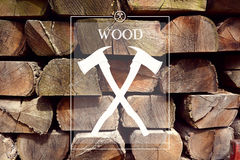 Woodwork forester logo with background Royalty Free Stock Images