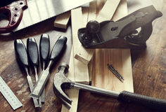 Woodwork Tools Royalty Free Stock Photography